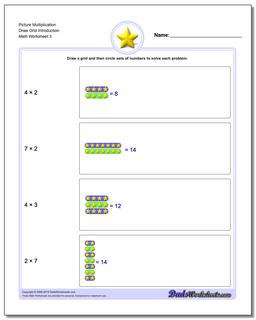 Picture Multiplication Worksheet Draw Grid Introduction