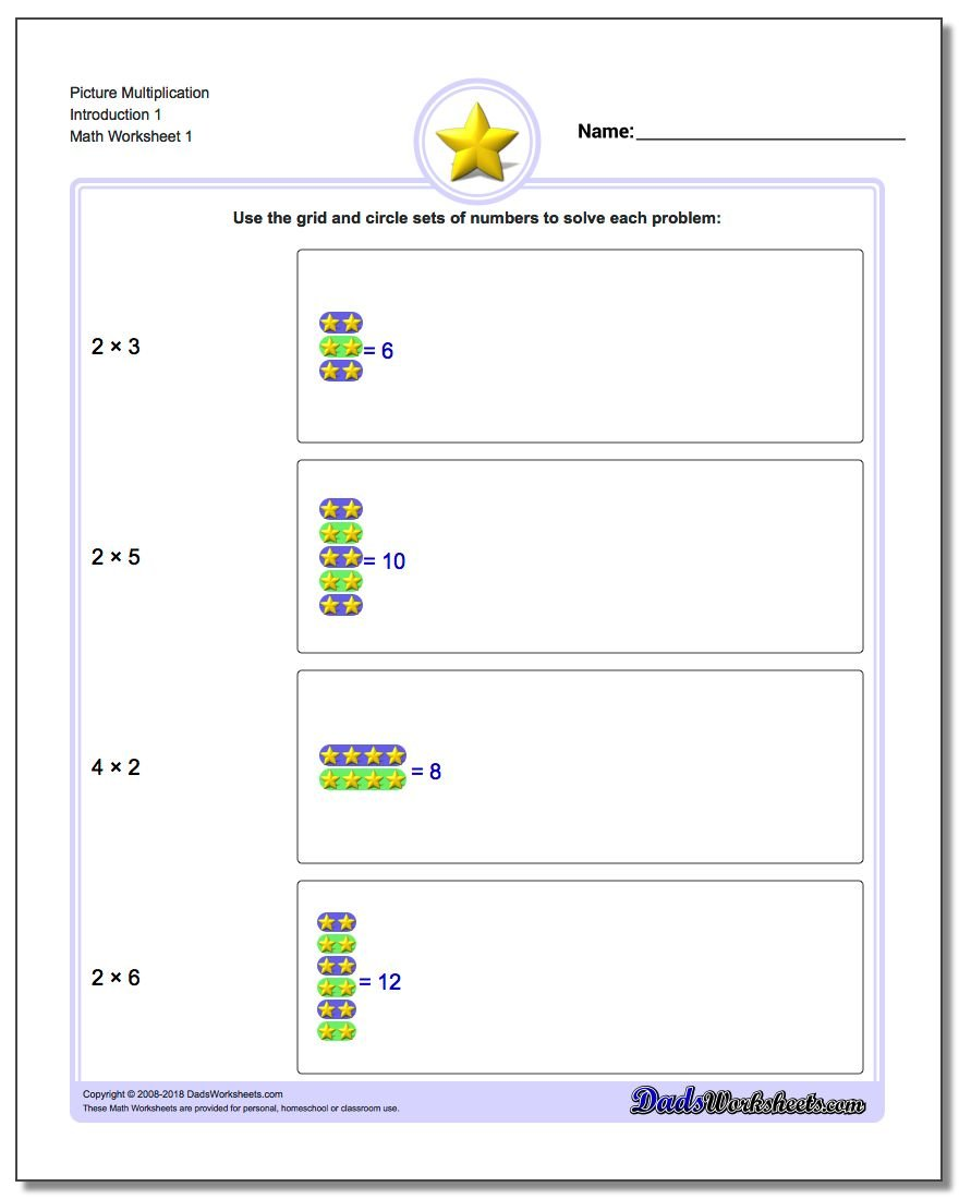Picture Math Multiplication – Problem Solving Multiplication Worksheets