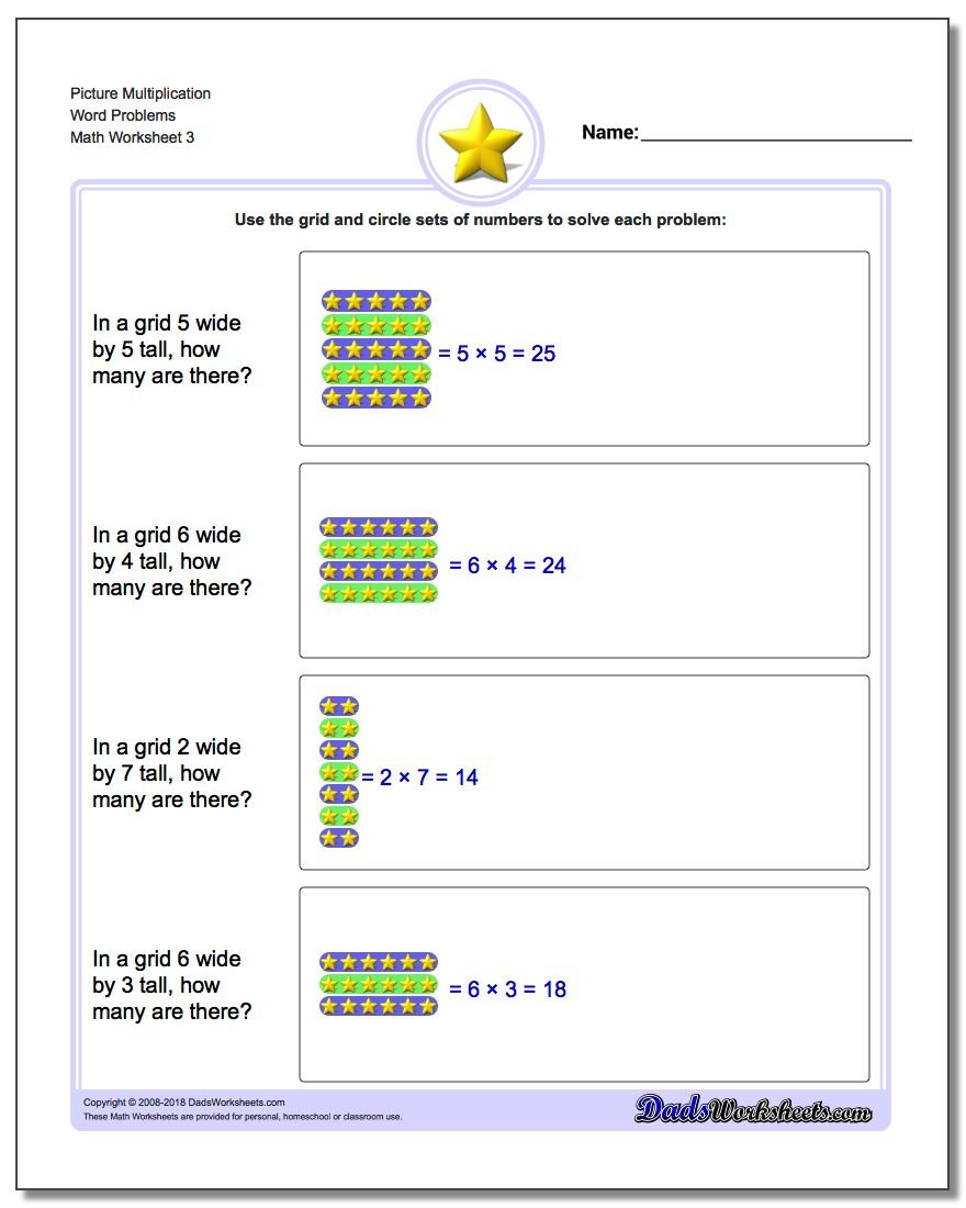 Picture Multiplication Worksheet Word Problems Worksheet