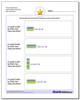 Picture Math Multiplication Worksheet