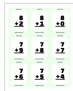 Addition Worksheet Flashcards 2