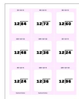 Division Worksheet by 10, 11, 12 Facts /worksheets/printable-flash-cards.html