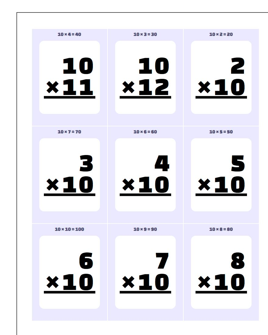 worksheet Division Flash Cards Printable printable flash cards 4 worksheets