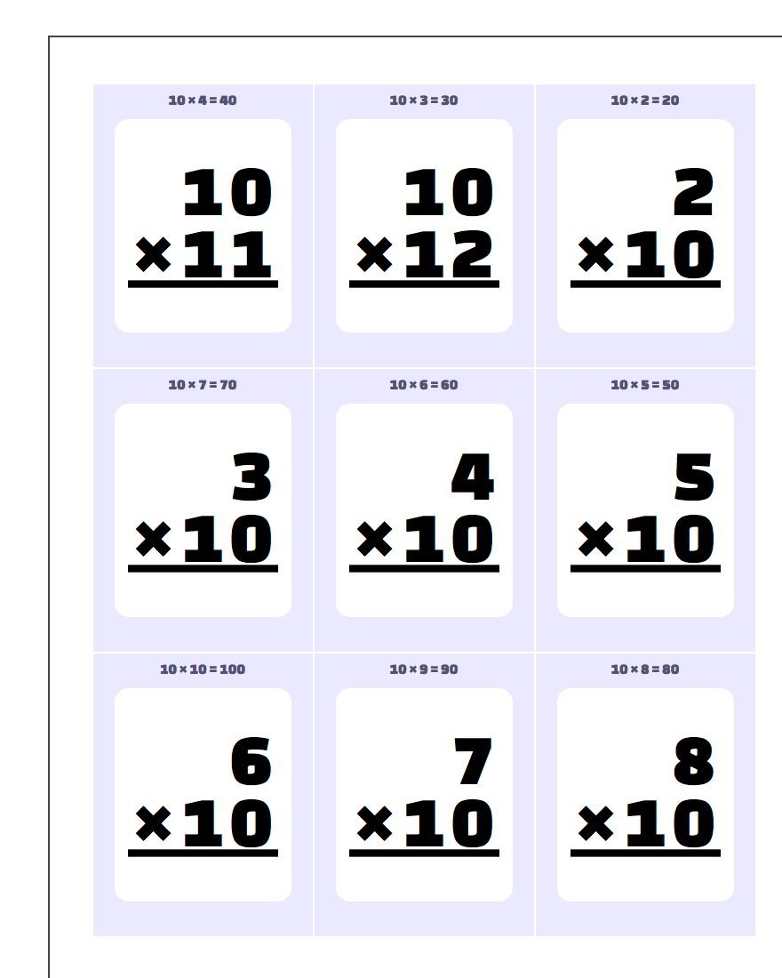 Worksheet Printable Multiplication Flash Cards printable flash cards