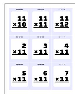 Multiplication Worksheet x10, x11 and x12 #Printable #Flash #Cards