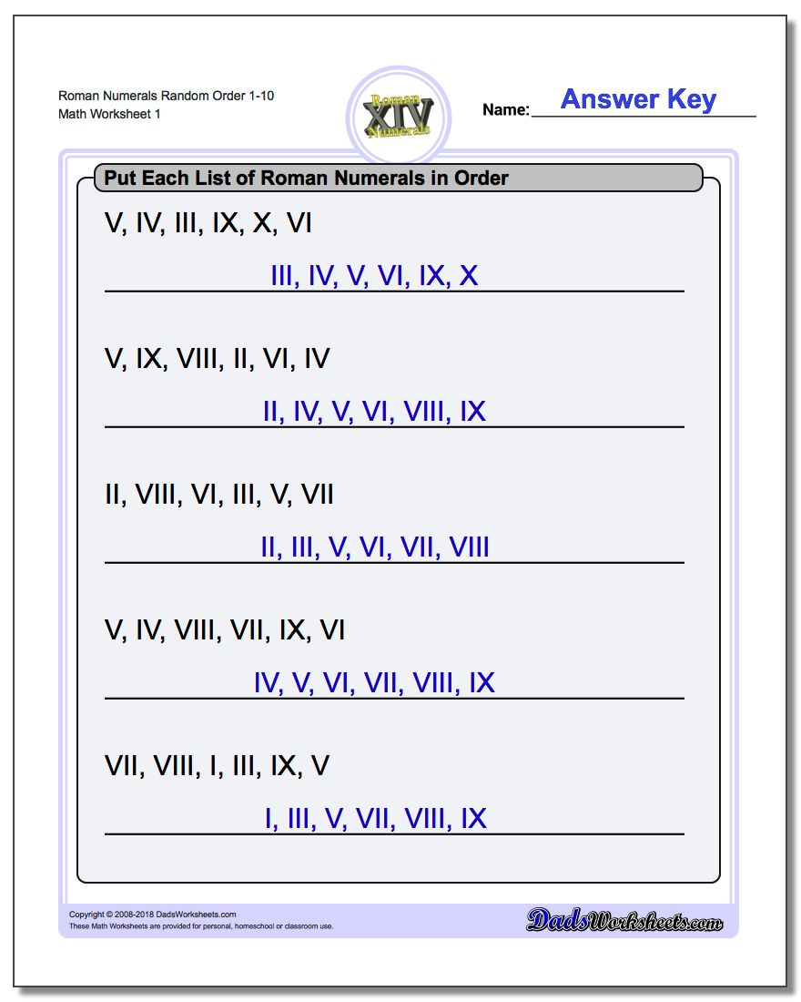 Roman numerals in order popflyboys for Random number table 1 99