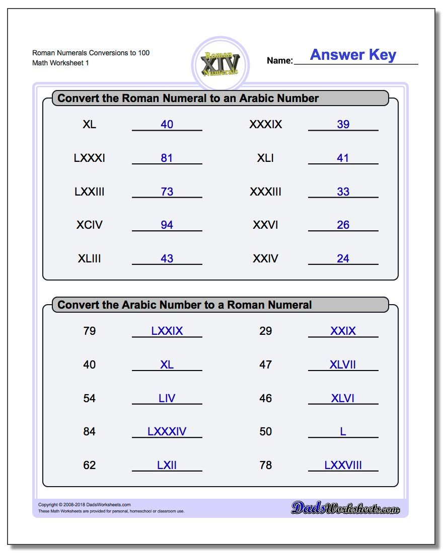 Roman Numeral Practice Worksheets Posted – Roman Numeral Worksheet