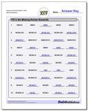 Roman Numerals Patterns Years www.dadsworksheets.com/worksheets/roman-numerals.html Worksheet