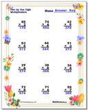 Spring Multiplication Worksheet