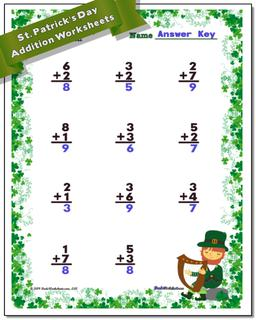Kindergarten Worksheets St. Patrick's Day