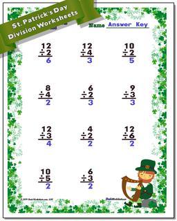St. Patrick's Day Division Worksheet #St #Patricks #Day #Worksheet
