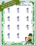 St. Patrick's Day Division Worksheet