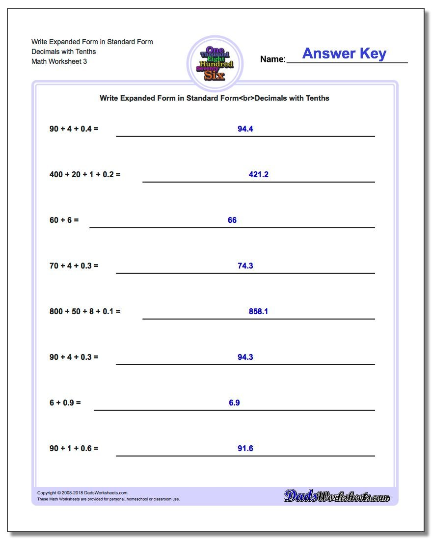 standard form 66  Write Expanded Form Numbers in Standard Form