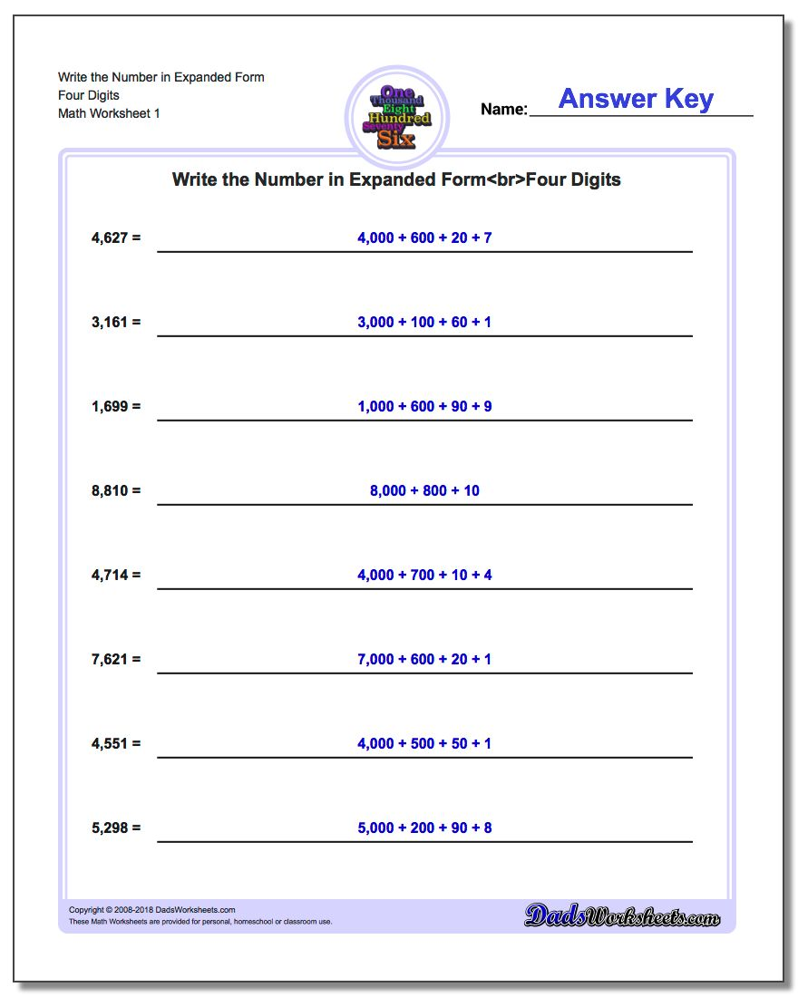 writing in expanded form (to put in writing the expanded form) a escribir en forma desarrollada the  teacher asked the students to write the numbers in expanded formla maestra le .