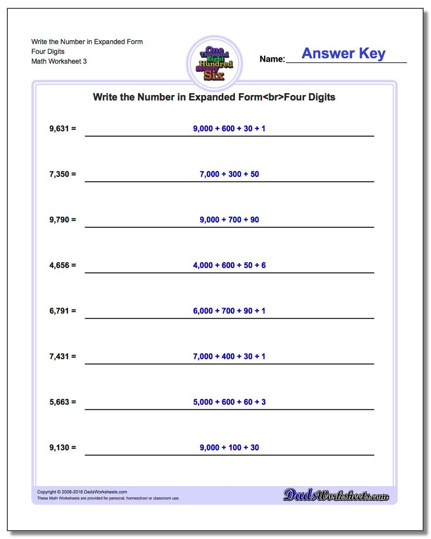 Write Numbers in Expanded Form