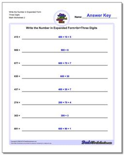 Write the Number in Expanded Form Worksheet Three Digits www.dadsworksheets.com/worksheets/standard-expanded-and-word-form.html