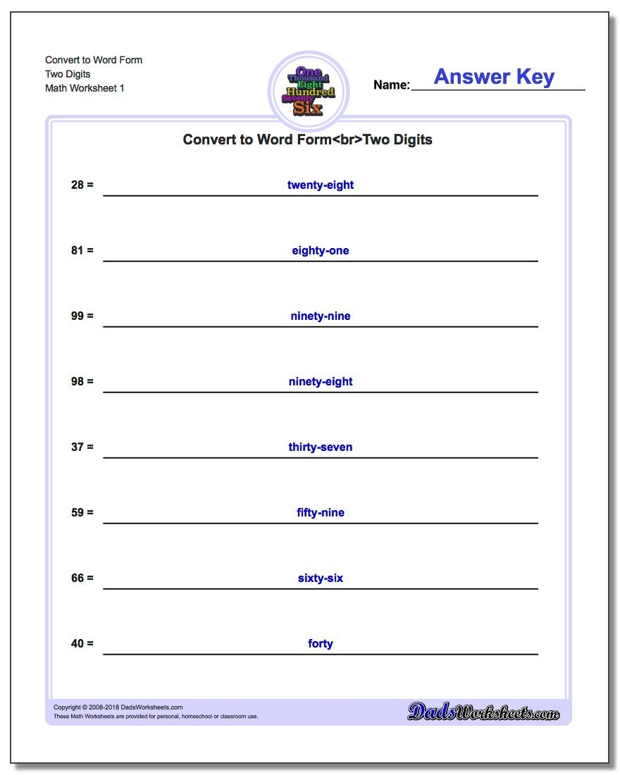 Worksheets Expanded Form Worksheets 4th Grade standard expanded and word form