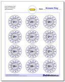 Circle Subtraction Hard Single Fact Worksheet www.dadsworksheets.com/worksheets/subtraction.html