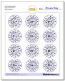 Circle Subtraction Hard Single Fact Worksheet