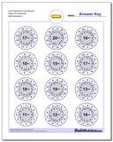 Circle Subtraction Easy Random Single Fact Worksheet www.dadsworksheets.com/worksheets/subtraction.html