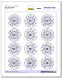 Circle Subtraction Easy Random Single Fact Worksheet