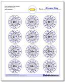 Circle Subtraction Hard Random Single Fact Worksheet www.dadsworksheets.com/worksheets/subtraction.html