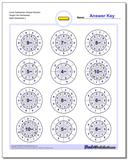 Circle Subtraction Simple Random Single Fact Worksheet www.dadsworksheets.com/worksheets/subtraction.html