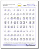 Four Digit Subtraction Worksheet with Negative Results