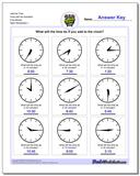 Add the Time Face with No Numbers Five Minute www.dadsworksheets.com/worksheets/telling-analog-time.html Worksheet