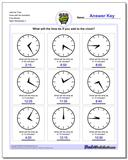 Add the Time Face with No Numbers Five Minute Worksheet