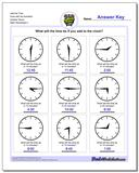 Add the Time Face with No Numbers Quarter Hours Worksheet