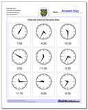 Draw the Time Face with No Numbers Five Minute Intervals www.dadsworksheets.com/worksheets/telling-analog-time.html Worksheet
