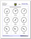 Draw the Time Face with No Numbers Five Minute Intervals Worksheet