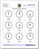 Draw the Time Face with No Numbers Full and Half Hours Worksheet