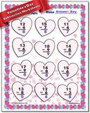 Valentine's Day Subtraction Worksheet